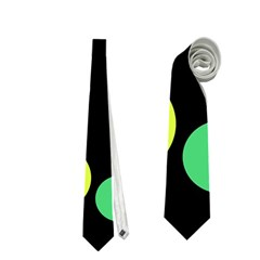 Yellow Circles Neckties (one Side)