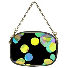 Yellow Circles Chain Purses (one Side)  by Valentinaart