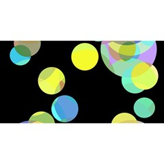 Yellow Circles You Are Invited 3d Greeting Card (8x4)