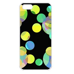 Yellow Circles Apple Iphone 5 Seamless Case (white) by Valentinaart