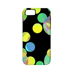 Yellow circles Apple iPhone 5 Classic Hardshell Case (PC+Silicone)