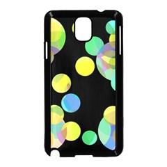 Yellow Circles Samsung Galaxy Note 3 Neo Hardshell Case (black) by Valentinaart