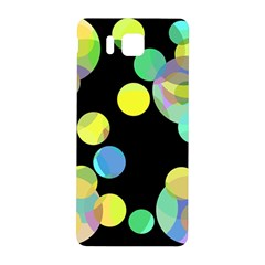 Yellow Circles Samsung Galaxy Alpha Hardshell Back Case by Valentinaart