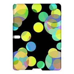 Yellow Circles Samsung Galaxy Tab S (10 5 ) Hardshell Case  by Valentinaart