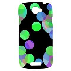Green decorative circles HTC One S Hardshell Case