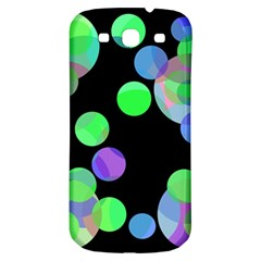Green Decorative Circles Samsung Galaxy S3 S Iii Classic Hardshell Back Case by Valentinaart