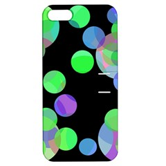 Green Decorative Circles Apple Iphone 5 Hardshell Case With Stand by Valentinaart