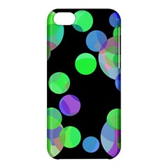 Green Decorative Circles Apple Iphone 5c Hardshell Case by Valentinaart