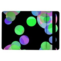 Green decorative circles iPad Air Flip by Valentinaart