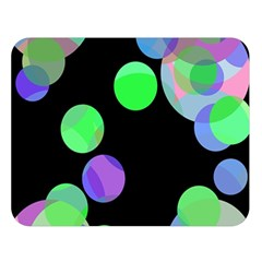 Green Decorative Circles Double Sided Flano Blanket (large)  by Valentinaart