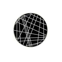 Black And White Simple Design Hat Clip Ball Marker (10 Pack) by Valentinaart
