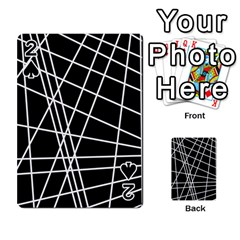 Black And White Simple Design Playing Cards 54 Designs