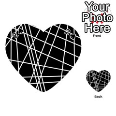 Black And White Simple Design Playing Cards 54 (heart)  by Valentinaart