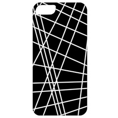 Black And White Simple Design Apple Iphone 5 Classic Hardshell Case by Valentinaart