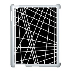Black And White Simple Design Apple Ipad 3/4 Case (white) by Valentinaart