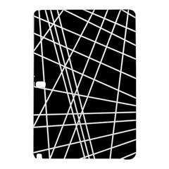 Black And White Simple Design Samsung Galaxy Tab Pro 12 2 Hardshell Case by Valentinaart