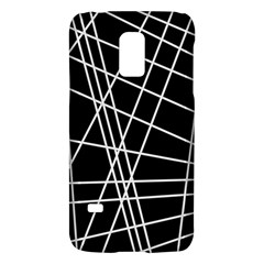 Black and white simple design Galaxy S5 Mini by Valentinaart