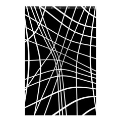 Black And White Elegant Lines Shower Curtain 48  X 72  (small)  by Valentinaart