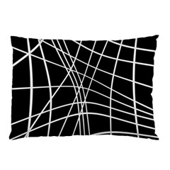Black And White Elegant Lines Pillow Case (two Sides) by Valentinaart