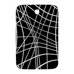 Black And White Elegant Lines Samsung Galaxy Note 8 0 N5100 Hardshell Case  by Valentinaart