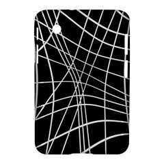 Black And White Elegant Lines Samsung Galaxy Tab 2 (7 ) P3100 Hardshell Case  by Valentinaart