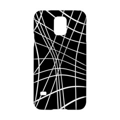 Black And White Elegant Lines Samsung Galaxy S5 Hardshell Case  by Valentinaart