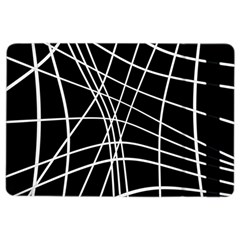 Black And White Elegant Lines Ipad Air 2 Flip by Valentinaart