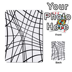 Black And White Decorative Lines Multi Purpose Cards (rectangle)  by Valentinaart