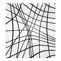 Black And White Decorative Lines Shower Curtain 66  X 72  (large)  by Valentinaart