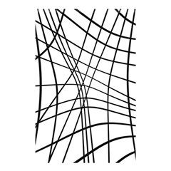 Black And White Decorative Lines Shower Curtain 48  X 72  (small)  by Valentinaart