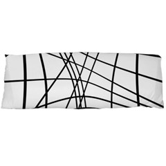 Black And White Decorative Lines Body Pillow Case Dakimakura (two Sides) by Valentinaart