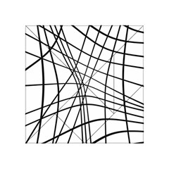Black And White Decorative Lines Acrylic Tangram Puzzle (4  X 4 ) by Valentinaart