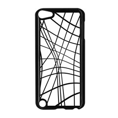 Black And White Decorative Lines Apple Ipod Touch 5 Case (black) by Valentinaart