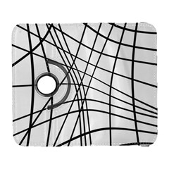 Black And White Decorative Lines Samsung Galaxy S  Iii Flip 360 Case by Valentinaart