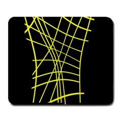 Yellow Abstraction Large Mousepads by Valentinaart