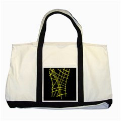 Yellow Abstraction Two Tone Tote Bag by Valentinaart