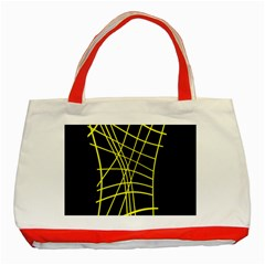 Yellow Abstraction Classic Tote Bag (red) by Valentinaart