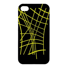 Yellow Abstraction Apple Iphone 4/4s Hardshell Case by Valentinaart