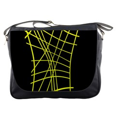 Yellow Abstraction Messenger Bags by Valentinaart