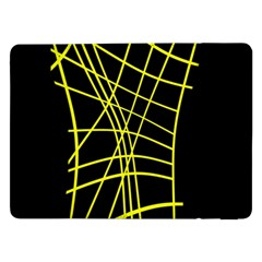 Yellow Abstraction Samsung Galaxy Tab Pro 12 2  Flip Case by Valentinaart