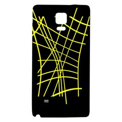 Yellow Abstraction Galaxy Note 4 Back Case by Valentinaart