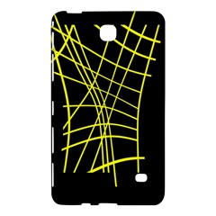 Yellow Abstraction Samsung Galaxy Tab 4 (8 ) Hardshell Case  by Valentinaart