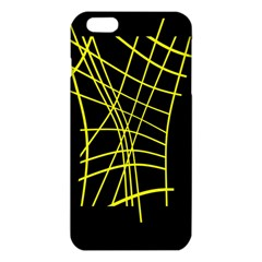 Yellow Abstraction Iphone 6 Plus/6s Plus Tpu Case by Valentinaart