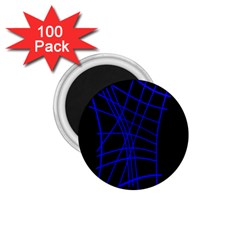Neon Blue Abstraction 1 75  Magnets (100 Pack)  by Valentinaart