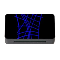 Neon Blue Abstraction Memory Card Reader With Cf by Valentinaart