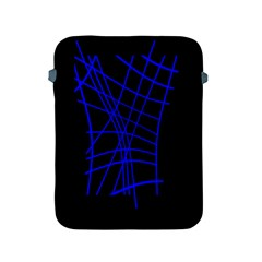Neon Blue Abstraction Apple Ipad 2/3/4 Protective Soft Cases by Valentinaart