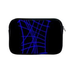 Neon Blue Abstraction Apple Ipad Mini Zipper Cases by Valentinaart