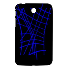 Neon Blue Abstraction Samsung Galaxy Tab 3 (7 ) P3200 Hardshell Case  by Valentinaart