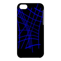 Neon Blue Abstraction Apple Iphone 5c Hardshell Case by Valentinaart
