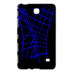 Neon Blue Abstraction Samsung Galaxy Tab 4 (8 ) Hardshell Case  by Valentinaart